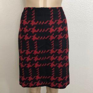 2/$39 Talbots Wool Blend Hounds Tooth Black Skirt